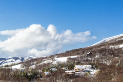 Winter landscape. A winter landscape in the Madonie Regional Natural Park in Sicily. It includes the Madonie mountain range and some of the highest mountains in Royalty Free Stock Image