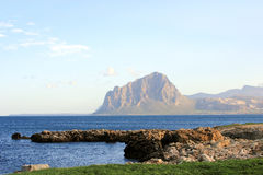 Winter Landscape of Monte Cofano, Trapani Stock Image
