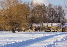 Winter landscape. Moscow park in winter. Stock Photography