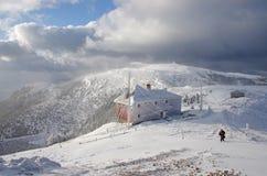 Winter landscape on a mountain Stock Photo