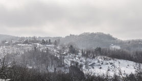 Winter landscape on mountain Stock Photography