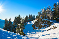 Winter landscape on mountain Stock Photo