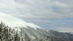 Winter landscape mountain forest snow stock video footage