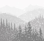 Winter Landscape (Mountain)-. Winter Landscape (Mountain) is a  illustration Royalty Free Stock Images