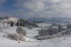 Romania Winter landscape Royalty Free Stock Photo