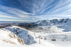 Winter landscape mountain - Tatras, Poland Royalty Free Stock Photos