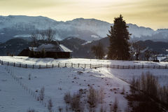 Winter landscape. In the mountains Royalty Free Stock Images