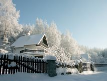 Winter landscape in the mountains Stock Photography