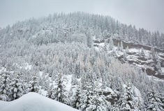 Winter landscape in the mountains Royalty Free Stock Image
