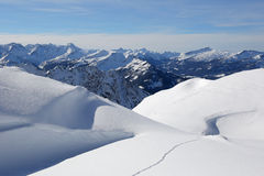 Winter landscape mountains covered with snow Royalty Free Stock Image