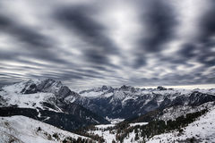 Winter landscape in the mountains Royalty Free Stock Images
