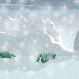 Winter Landscape. Mountains With Snow Stock Image
