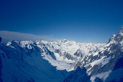 Winter landscape of mountains. Snow-covered mountains. Beautiful. Mountain landscape Stock Image