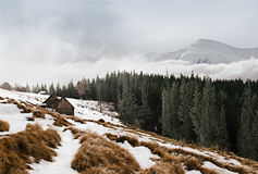 Winter landscape in the mountains Stock Image