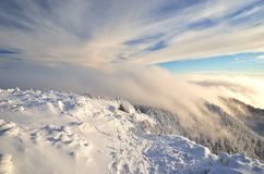 Winter landscape in mountains Stock Photos