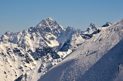 Winter landscape in mountains. Royalty Free Stock Photography