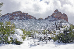 Winter landscape near Sedona Stock Images