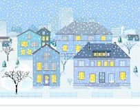 Winter Landscape in Neighborhood Stock Photos