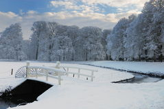 Winter landscape in the Netherlands. Beautiful winter landscape in the Netherlands ( Elswout Overveen stock photography