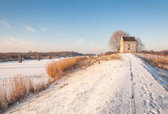 Winter landscape in the Netherlands Stock Images