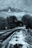 Winter landscape in the night Royalty Free Stock Photography