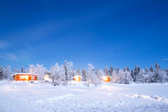 Winter landscape night Royalty Free Stock Image