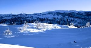 Winter Landscape in Norway Stock Images