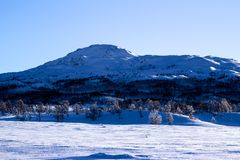 Winter Landscape in Norway Stock Photo