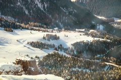 Free Winter Landscape Of Village In The Mountains Royalty Free Stock Photography - 65306727