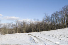 Winter Landscape in Ohio Royalty Free Stock Photo