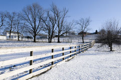 Winter Landscape in Ohio Stock Photography