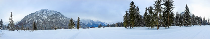 Winter landscape panorama Royalty Free Stock Images