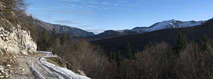 Winter landscape panorama Royalty Free Stock Photography