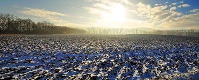 Winter landscape panorama Royalty Free Stock Photo