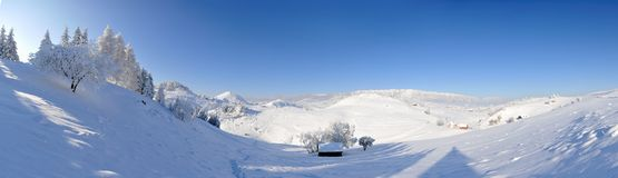 Winter landscape - panoramic view Stock Photography