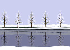 Winter landscape pattern Stock Images