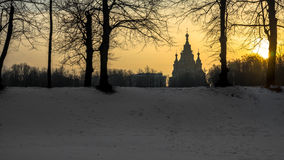Winter landscape. In the Peterhof Royalty Free Stock Photography
