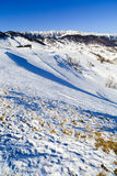 Winter landscape with Piatra Craiului Mountains Royalty Free Stock Images
