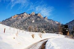Winter landscape in Pieniny Mountains, Poland Stock Photos