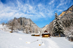 Winter landscape in Pieniny Mountains, Poland Royalty Free Stock Image