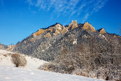 Winter landscape in Pieniny Mountains, Poland Royalty Free Stock Photos