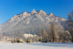 Winter landscape in Pieniny Mountains Royalty Free Stock Image