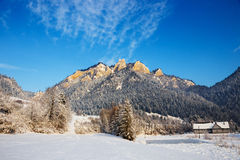 Winter landscape in Pieniny Mountains Royalty Free Stock Images