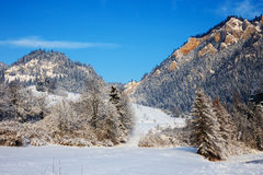 Winter landscape in Pieniny Mountains Stock Images
