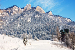 Winter Landscape In Pieniny Mountains Stock Photo
