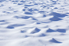 Winter landscape in Poland. Snow dunes on the polish landscape Stock Image