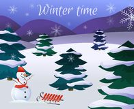 Winter Landscape Poster Royalty Free Stock Images