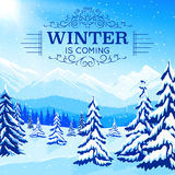 Winter Landscape Poster Royalty Free Stock Photography