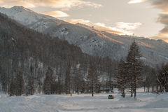 Winter landscape in Pragelato Royalty Free Stock Photo