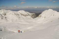 Winter landscape in Retezat mountain, Romania Stock Photography